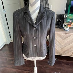 NWT BCBG brown striped blazer S
